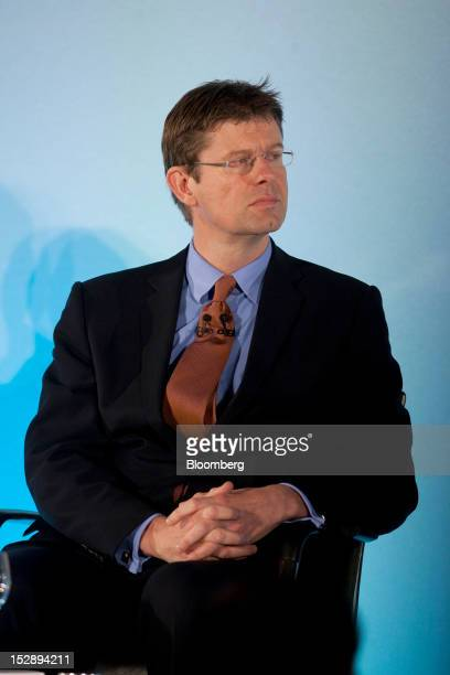 Greg Clark UK financial secretary to the Treasury pauses during a news conference at the Mansion House in London UK on Friday Sept 28 2012 Oversight...