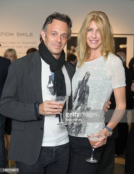 Greg Cohon and Lisa Hogan attend Vertu Launches Constellation Smile In Collaboration With Smile Train at Louise Blouin Foundation Olaf Street on June...