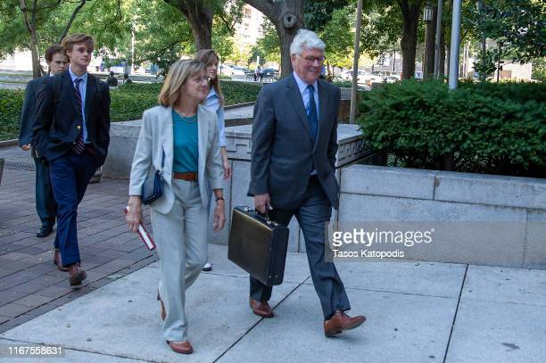 Greg Craig former White House counsel to former President Barack Obama arrives at the US District Courthouse on August 12 2019 in Washington DC The...