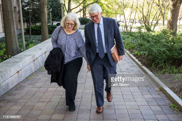 Greg Craig former White House counsel to former President Barack Obama departs from the US District Courthouse following a hearing on April 15 2019...