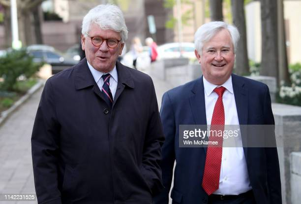 Greg Craig former White House counsel under former US President Barack Obama arrives at US District Court for his arraignment April 12 2019 in...