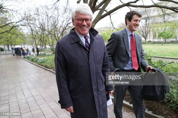 Greg Craig former White House counsel under former US President Barack Obama leaves the US District Court follwoing his arraignment April 12 2019 in...