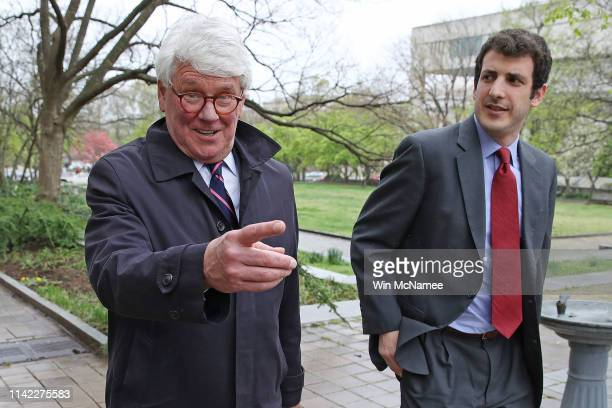 Greg Craig former White House counsel under former US President Barack Obama leaves the US District Court following his arraignment April 12 2019 in...