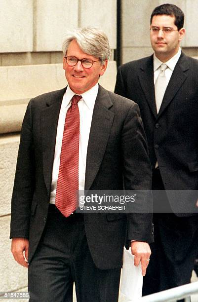Greg Craig who represents Juan Miguel Gonzalez the father of Elian Gonzalez leaves the 11th US Circuit Court of Appeals in Atlanta Ga 11 May 2000 The...