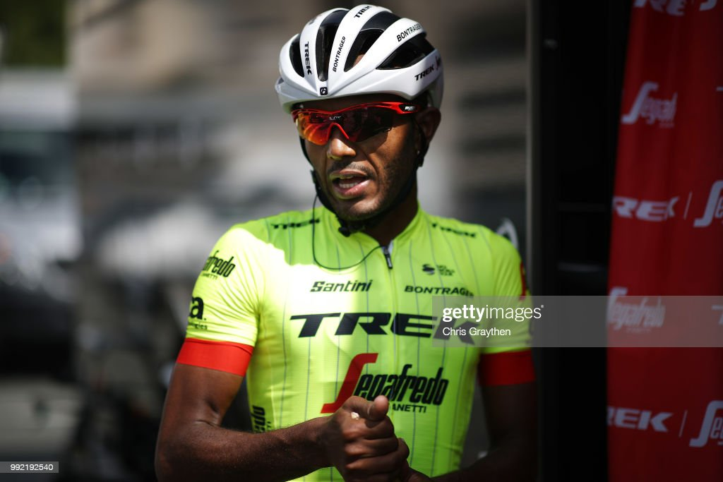 Greg Daniel of The United States and Team Trek-Segafredo / during the 105th Tour de France 2018, Training / Team Time Trial / TTT / TDF / on July 5, 2018 in Cholet, France.