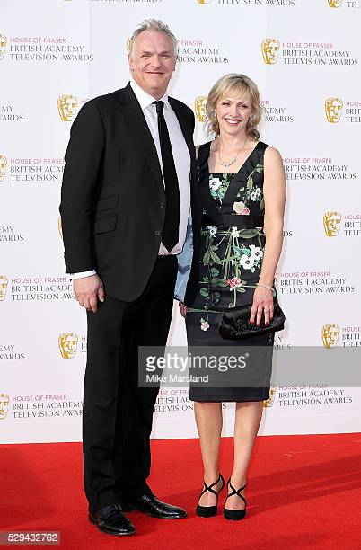 Greg Davies and guest arrive for the House Of Fraser British Academy Television Awards 2016 at the Royal Festival Hall on May 8 2016 in London England