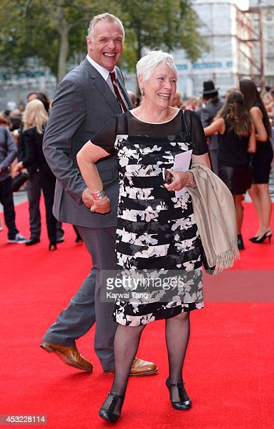 Greg Davies and his mother attend the World Premiere of 'The Inbetweeners 2' at Vue West End on August 5 2014 in London England