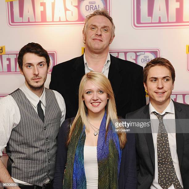 Greg Davis James Buckley Emily Head and Blake Harrison from 'The Inbetweners' attend the Loaded LAFTA's at the Cuckoo Club on January 27 2010 in...