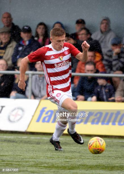 Greg Docherty of Hamilton during the Betfred League Cup game between East Kilbride and Hamilton Academical on July 15 2017 in East Kilbride Scotland