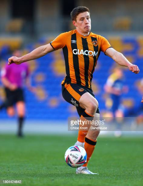 Greg Docherty of Hull City during the Sky Bet League One match between AFC Wimbledon and Hull City at Plough Lane on February 27, 2021 in Wimbledon,...