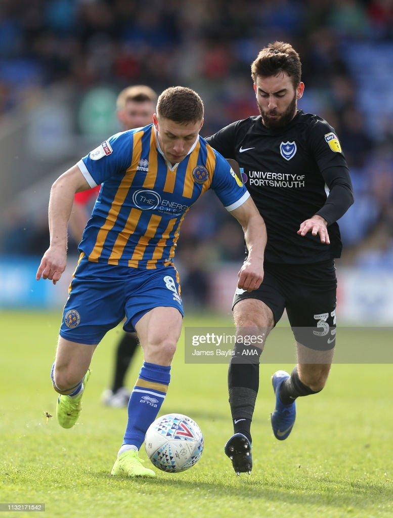 GBR: Shrewsbury Town v Portsmouth - Sky Bet League One