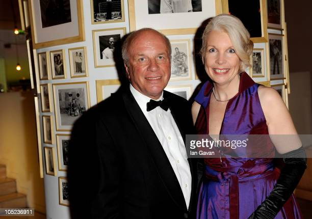 Greg Dyke and Director of the BFI Amanda Nevill attend the BFI preopening Gala Dinner hosted Greg Dyke during the 54th BFI London Film Festival at...