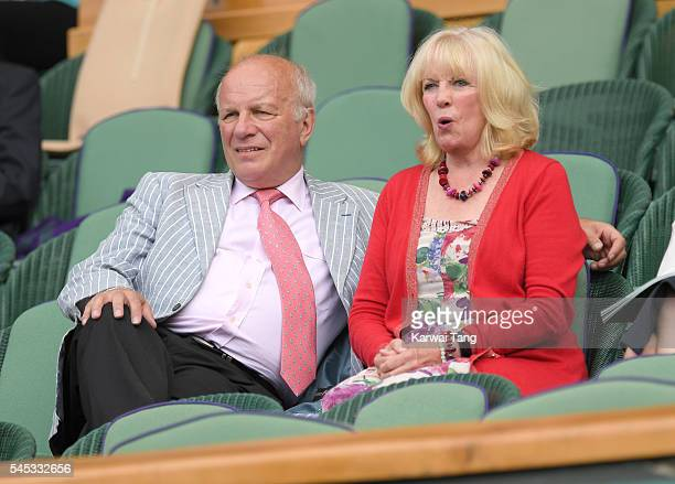 Greg Dyke and Susan Howes attend day ten of the Wimbledon Tennis Championships at Wimbledon on July 07 2016 in London England