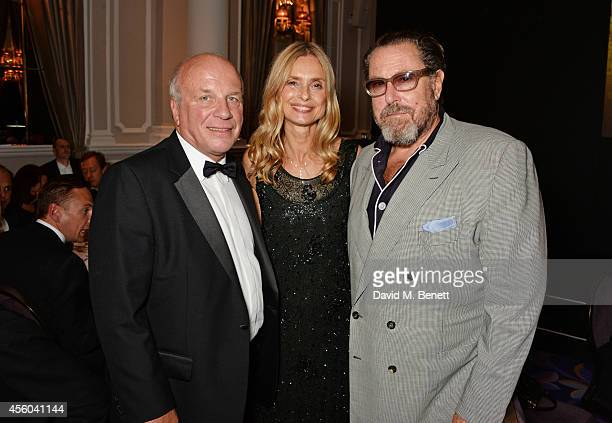 Greg Dyke Maryam d'Abo and Julian Schnabel attend the Al Pacino BFI Fellowship Dinner supported by Moet Chandon at the Corinthia Hotel London on...