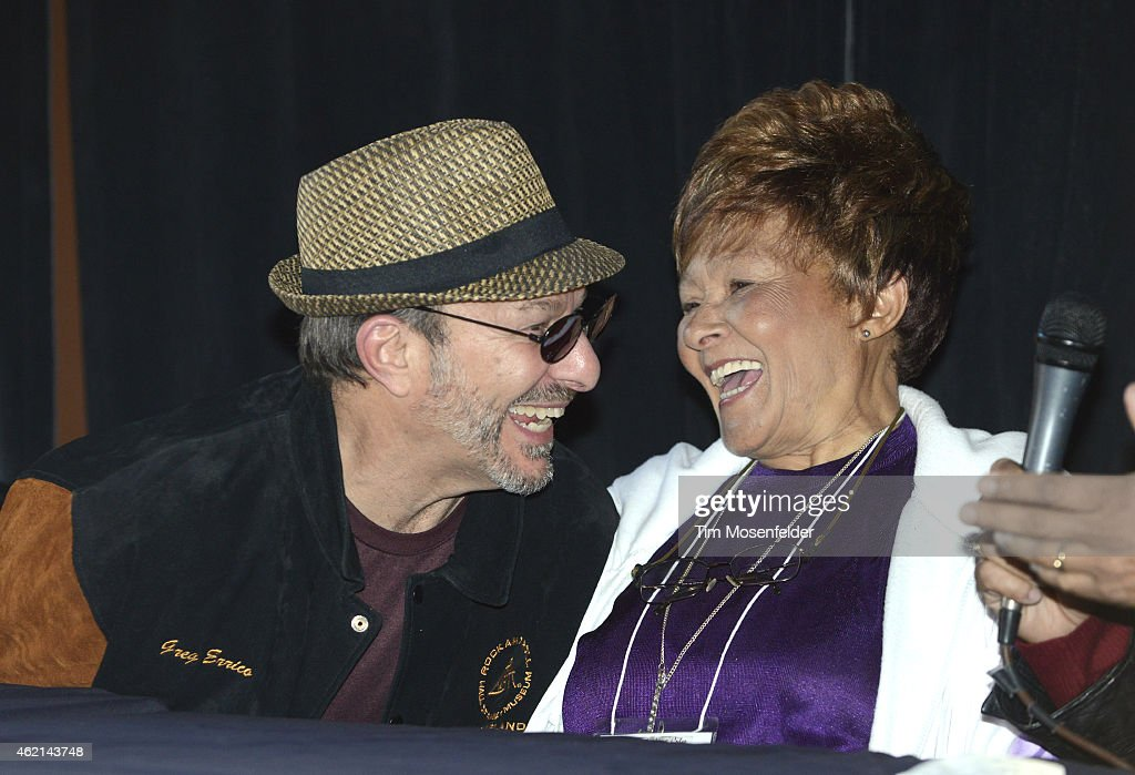 Greg Errico (L) and Cynthia Robinson attend 'Love City' A Convention Celebrating Sly and The Family Stone on January 24, 2015 in Oakland, California.
