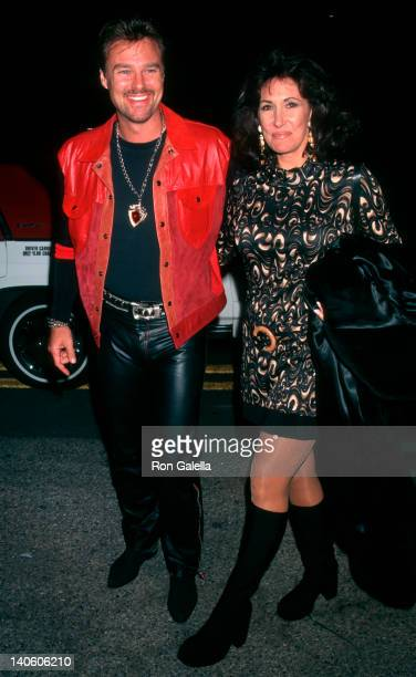 Greg Evigan and Pam Serpe at the 1997 Neil Bogart Fundraising Gala Honoring David Foster Barker Hanger Santa Monica Airport Santa Monica
