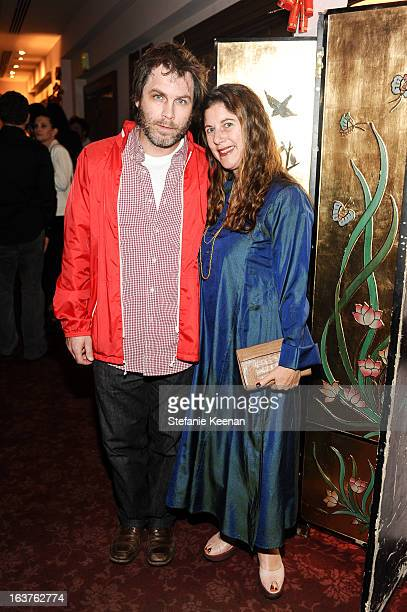 Greg Falcione and Andrea Feldman Falcione attend LAXART Ungala at Ungala at Empress Pavilion with performance by Lucie Fontaine on March 14 2013 in...