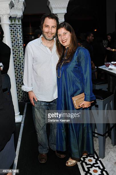 Greg Falcione and Andrea Feldman Falcione attend LAXART UNGALA Presented By Phillips on May 19 2014 in Los Angeles California
