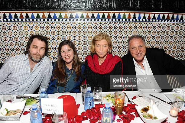 Greg Falcione Andrea Feldman Falcione Gail Hollander and Stanley Hollander attend LAXART UNGALA Presented By Phillips on May 19 2014 in Los Angeles...