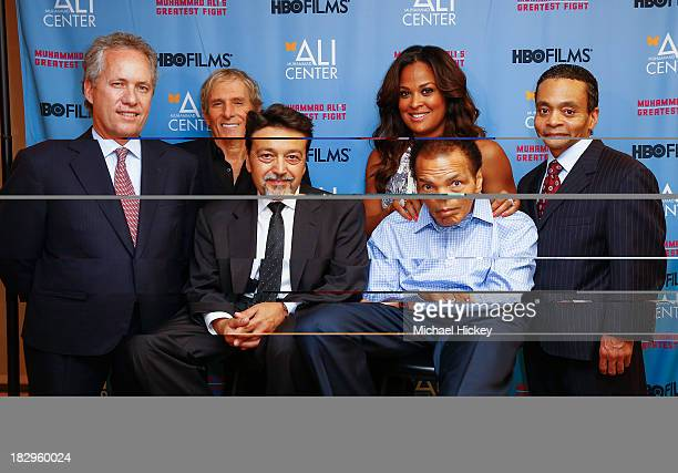 Greg Fischer Michael Bolton Len Amato Laila Ali Muhammad Ali and Donald Lassere appear as HBO Films and the Muhammad Ali Center cohost the US...