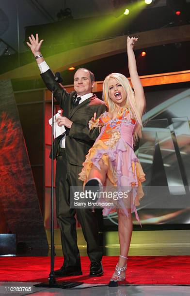 Greg Fitzsimmons CoHost and Jesse Jane during 23rd Annual AVN Awards Show at Venetian Hotel in Las Vegas Nevada United States