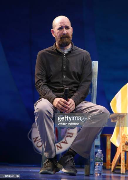 Greg Garcia during the Press Sneak Peak for the Jimmy Buffett Broadway Musical 'Escape to Margaritaville' on February 14 2018 at the Marquis Theatre...
