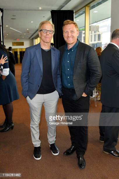 Greg Germann and Kevin McKidd attend the CTV Upfront 2019 at Sony Centre For Performing Arts on June 06 2019 in Toronto Canada