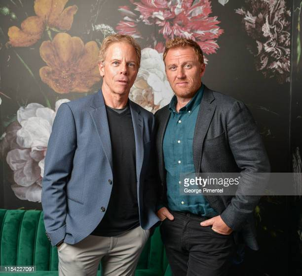 Greg Germann and Kevin McKidd pose at the CTV Upfront Portrait Studio at Sony Centre For Performing Arts on June 06 2019 in Toronto Canada