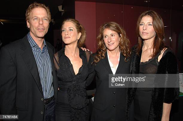 Greg Germann Jennifer Aniston Nicole Holofcener and Catherine Keener at the The Egyptian Theatre in Los Angeles California