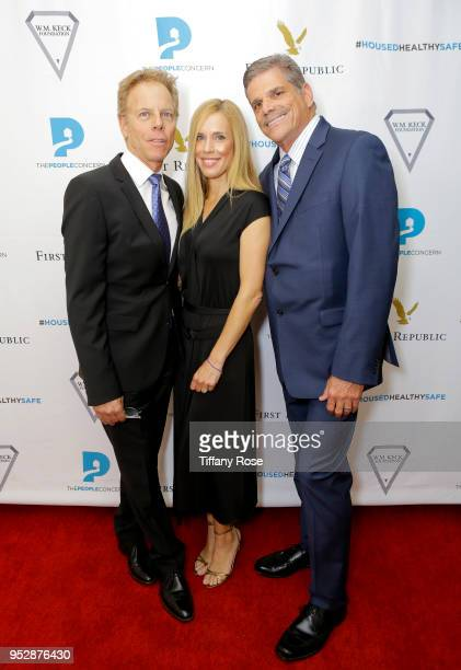 Greg Germann Martha Champlin and John Maceri attend The People Concern's Celebrating Change Gala at Casa Vertigo on April 29 2018 in Los Angeles...