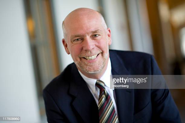 Greg Gianforte chairman and chief executive officer for RightNow Technologies Inc stands for a photograph before taking part in a Bloomberg via Getty...