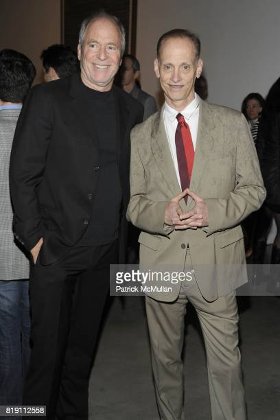 Greg Gorman and John Waters attend LARRY GAGOSIAN hosts the ANDREAS GURSKY Opening Exhibition at GAGOSIAN GALLERY at Gagosian Gallery on March 4 2010...