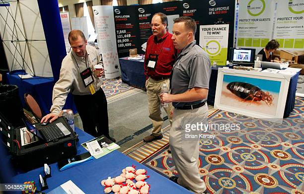 Greg Grabow and Edward LoCascio of TempAir discuss their bed bug elimination products with Eddie Connor Jr at the Bed Bug University North American...