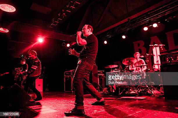 Greg Graffin and Brooks Wackerman of Bad Religion performs live at The Showbox on April 15 2013 in Seattle Washington