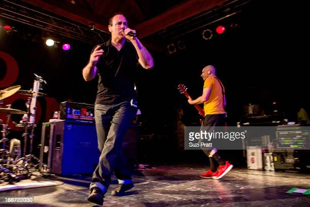Greg Graffin and Greg Hetson of Bad Religion perform live at The Showbox on April 15 2013 in Seattle Washington