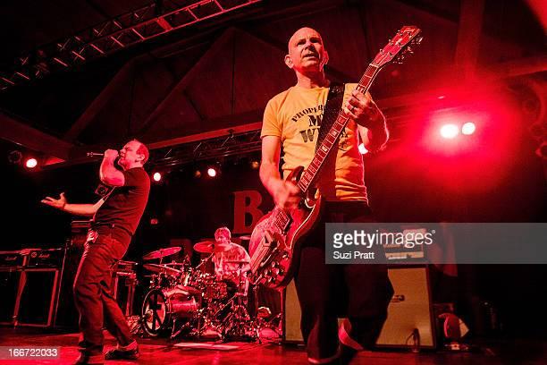 Greg Graffin Greg Hetson and Brooks Wackerman of Bad Religion perform at The Showbox on April 15 2013 in Seattle Washington