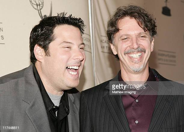 Greg Grunberg and Tim Kring during The Academy of Television Arts and Sciences Presents An Evening with Heroes Red Carpet at Leonard H Goldenson...