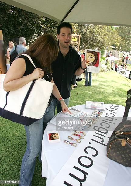 Greg Grunberg and wife Elizabeth during Silver Spoon Hollywood Buffet Day One at Private Estate in Los Angeles California United States Photo by J...
