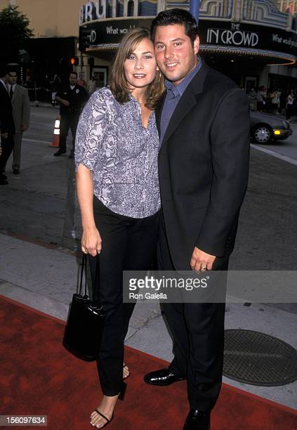 Greg Grunberg and wife Elizabeth Grunberg during 'Hollow Man' Los Angeles Premiere at Mann Village Theatre in Westwood California United States