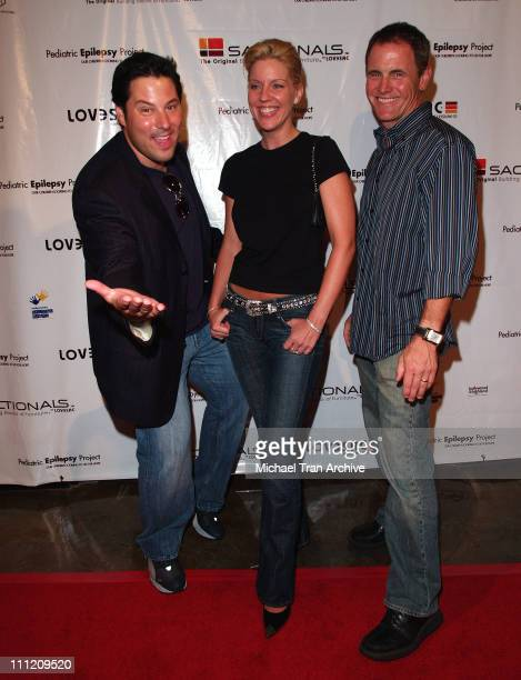 Greg Grunberg Andrea Parker and Mark Moses during LoveSac and Pediatric Epilepsy Project Hosts the Celebrity Signed Sactionals Tour at The Annex @...