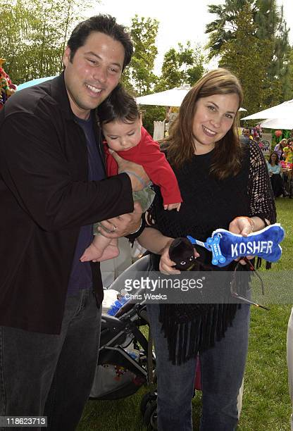 """Greg Grunberg Elizabeth Grunberg and Sam during Silver Spoon Dog and Baby Buffet"""" Benefitting Much Love Animal Rescue Day One at Private Residence in..."""