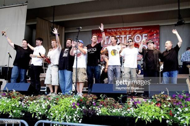 Greg Grunberg, Hugh Laurie, Jesse Spencer, Chris Kelley, Scott Grimes, Bob Guiney, James Denton, Adrian Pasdar, Brad Savage and Barry Sarna of Band...