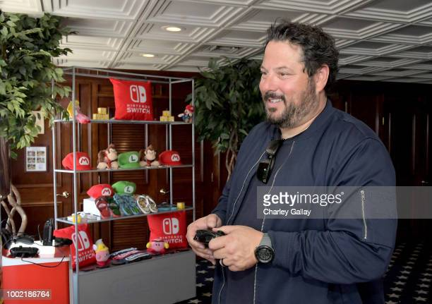 Greg Grunberg tests his skills on Super Smash Bros Ultimate for Nintendo Switch at the Variety Studio at ComicCon 2018 on July 19 2018 in San Diego...