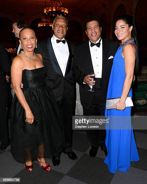 Greg Gumbel Jillian Beth Gumbel and guests attend the Tenth Annual UNICEF Snowflake Ball at Cipriani Wall Stree on December 2 2014 in New York City