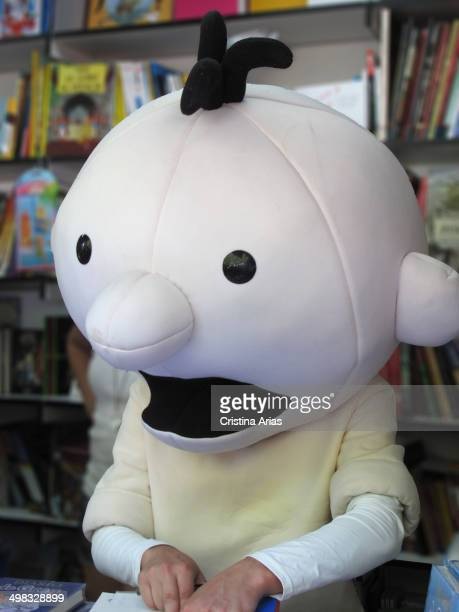 Greg Heffley the protagonist of the famous book series Diary of a Wimpy Kid ' featuring his adventures signing copies of his latest works at Book...
