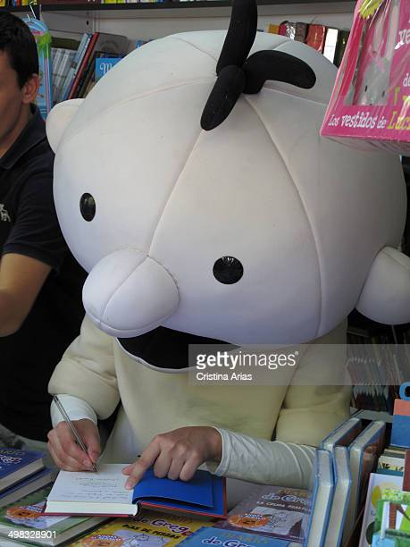 """Greg Heffley, the protagonist of the famous book series """"Diary of a Wimpy Kid ', featuring his adventures, signing copies of his latest works at Book..."""