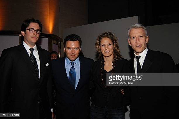 Greg Heyman, Arthur G. Altshul Jr., Serena Altschul and Anderson Cooper attend Vanity Fair hosts their Tribeca Film Festival dinner at The State...