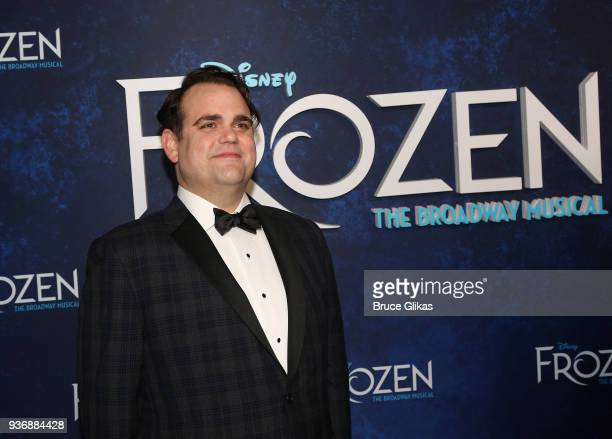 Greg Hildreth poses at the opening night after party for Disney's new hit musical Frozen on Broadway at Terminal 5 on March 22 2018 in New York City