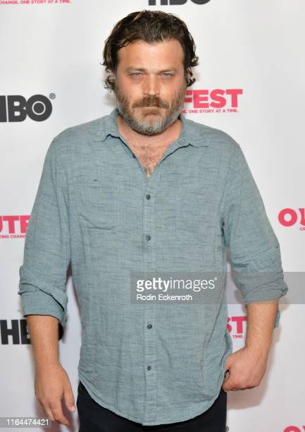 Greg Hill attends the 2019 Outfest Los Angeles LGBTQ Film Festival screening of Bit at TCL Chinese 6 Theatres on July 26 2019 in Hollywood California