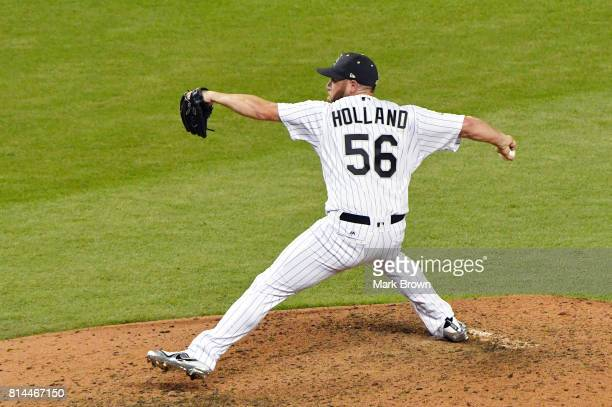 Greg Holland of the Colorado Rockies and the National League delivers the pitch during the 88th MLB AllStar Game at Marlins Park on July 11 2017 in...